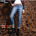 Boyfriend Jeans For Women 2016 Promotion Sale Vintage Mid Regular Spandex Ripped Denim Harem Pants Plus Size Woman Jeans B501