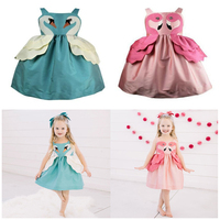 2019 Summer Girls Dress Princess Party Children Dresses Modis Flamingo Kids Dresses for Girls Fashion Girl Clothing kids Choses