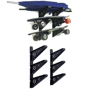 3Pairs Skateboard Wall Mount R