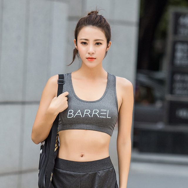 93219a1d753 New Korea sports bra women s vest running fitness jump sport bras sexy sport  bra Big yards gather shock sport bra