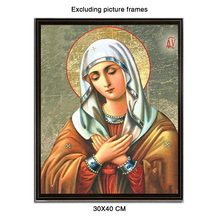 The Virgin 5D DIY Diamond Painting Full Round Diamant Daimond Accessories Paintings New Arrivals Religious Art 30x40 Cm