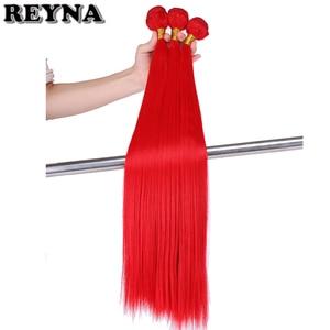 Прямые синтетические волосы для наращивания, 22 дюйма, 3 шт./упак. красные, розовые, фиолетовые, желтые волокна, пряди волос