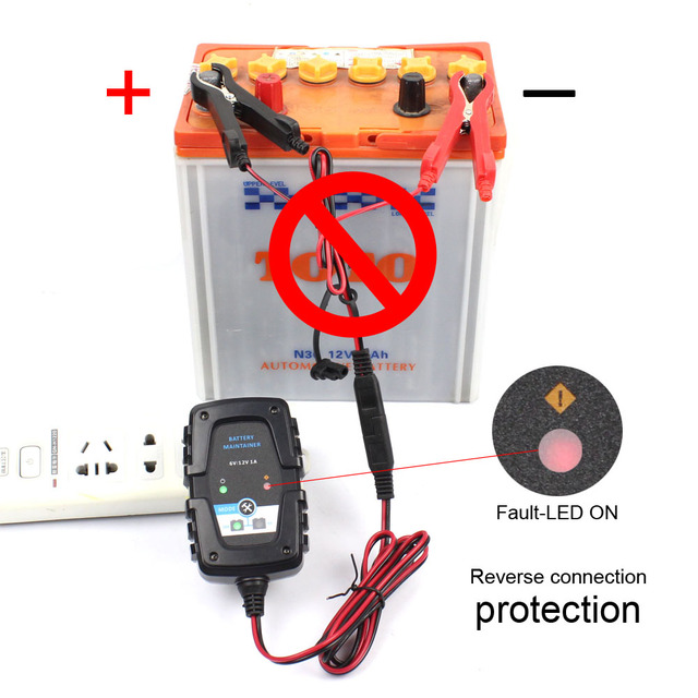 6 V 12 V 1A Motorfiets Scooter Autocycle Autobike Auto Automatische Smart Battery Charger Beheerder AGM VRLA Batterij Oplader