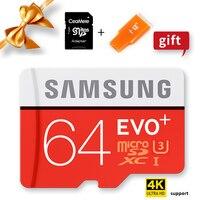 Samsung 100% original genuíno evo mais cartões microsd cartão de memória 64 gb class10 micro sd tf cartão flash