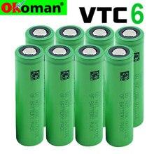 2021 nova vtc6 3.7v 3000mah 18650 bateria li-ion recarregável us18650vtc6 para sony cigarro eletrônico brinquedos ferramentas flashligh