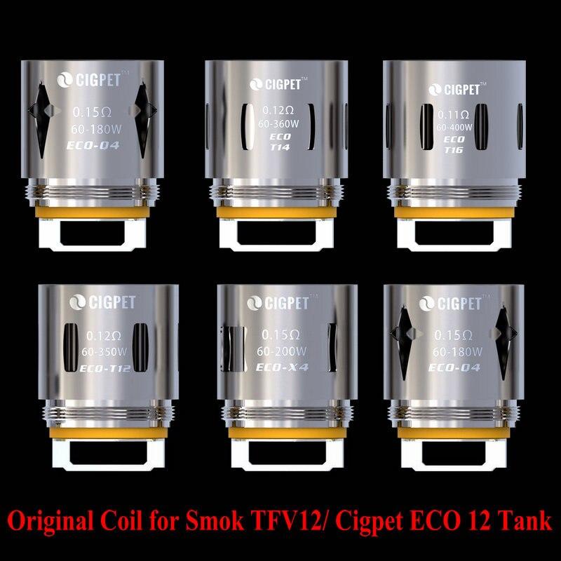 Original CIGPET ECO Coil ECO-T12 / Smok TFV12 Coil X4/Q4/T12/T16/T14 Coil for Smok TFV12 Tank iJOY Cigpet ECO 12 Tank 3pcs/lot