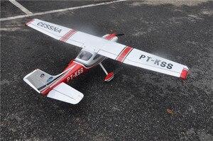 Image 2 - RC מטוס ססנה 182 אדום בלזה עץ קבוע כנף מטוסי ARF