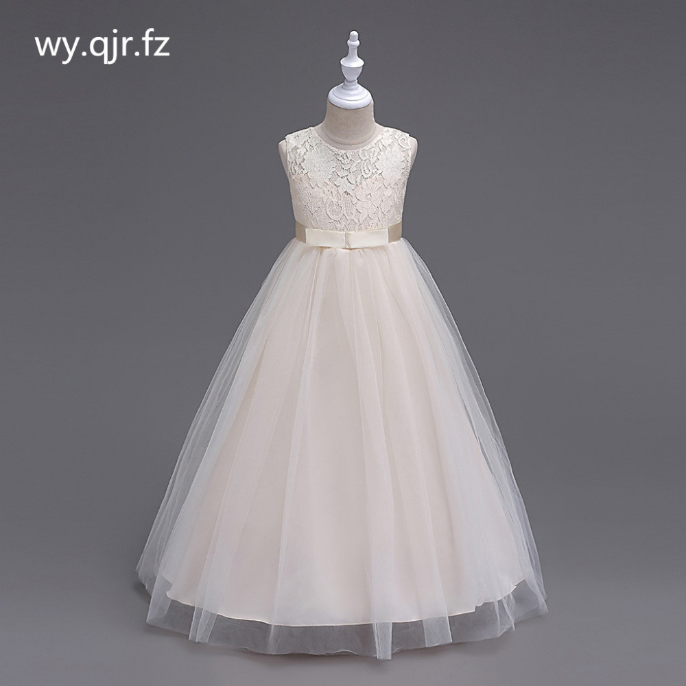 BH9999X#Champagne Flower Girl Dresses children's wedding Party long fluffy girl's Lace Princess dress prom gown cheap Wholesale