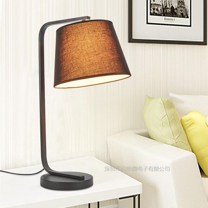 Nouveau Moderne Eye-protection Lampe de Bureau Bureau Étude Chambre Lampe De Lecture De Chevet Tissu accueil Lampe De Table décoration éclairage