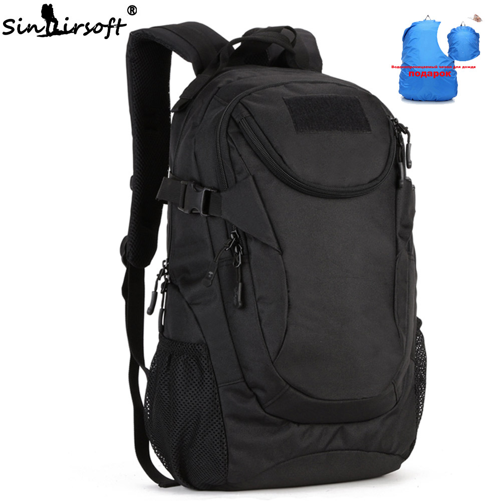 Gift! SINAIRSOFT Tactical Molle 25L Sport Backpack 14 Inches laptop Military Outdoor Fishing Hunting Camping Rucksack LY0039 new arrival 38l military tactical backpack 500d molle rucksacks outdoor sport camping trekking bag backpacks cl5 0070