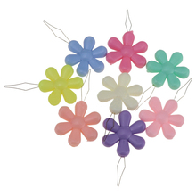 1Pcs Random Colors Flower Shape Copper Wire Simple Line Lead Tools Plastic Manual DIY Sewing Threader Cross Stitch