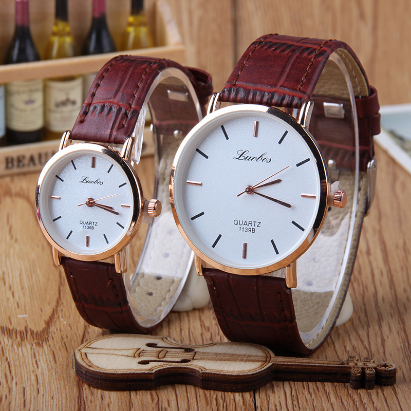 Hot Fashion Creative Watches Women Men Quartz-watch  Unique Dial Design Lovers' Watch Leather Wristwatches Clock
