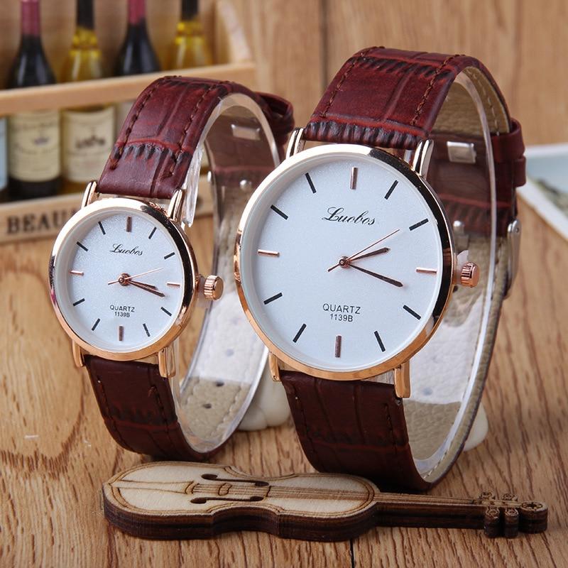 Hot Fashion Creative Watches Women Men Quartz-watch  Unique Dial Design Lovers' Watch Leather Wristwatches Clock