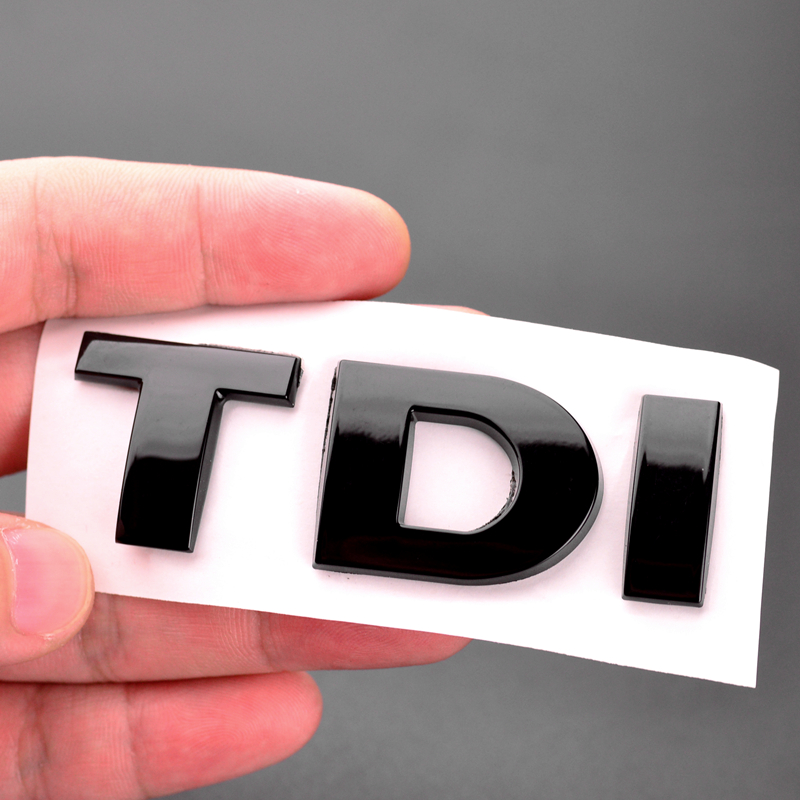Car Styling Glossy Black TDI Badge Emblem Decal Car Sticker For Golf 6 7 Jetta Passat MK6 MK7 Auto Decoration Accessories
