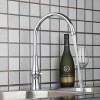 Brand New Deck Mounted Single Hole Chrome Finish Swivel Kitchen Basin Sink Faucet Tap Mixer