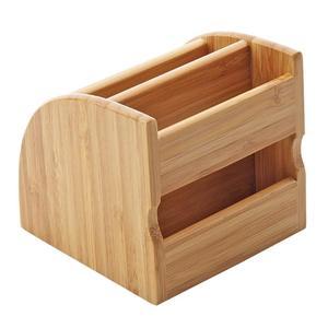 Image 3 - Ahşap kalem sahipleri masaüstü masaüstü düzenleyici saklama kutusu masa için ofis malzemeleri