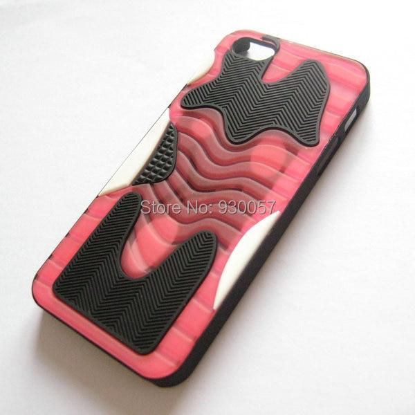 PVC Jordan Rubber Case for Iphone 5 5S Shoe Sole Bottom 3D Jordan XI Bred case for Iphone 5 5s