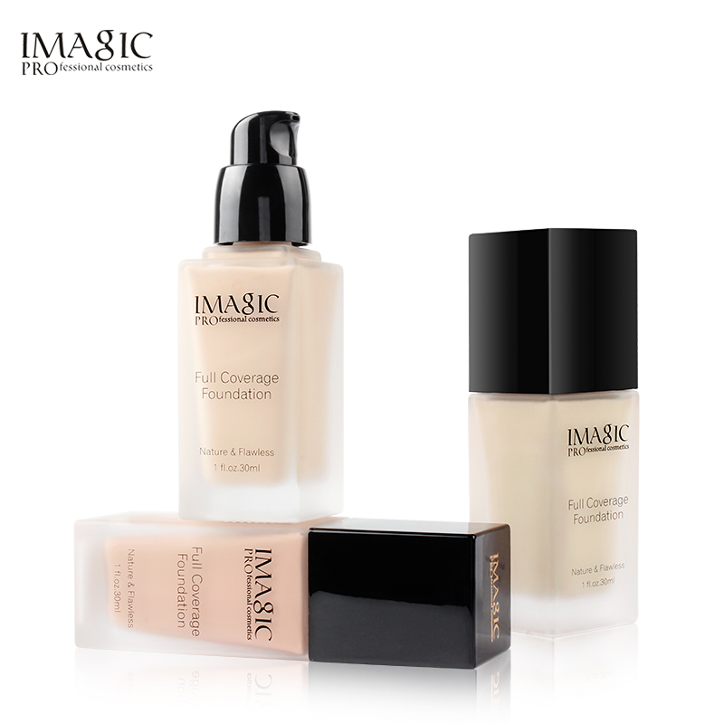 IMAGIC Base Face Liquid Foundation Cream Full Coverage Concealer Oil-control Easy to Wear Soft Face Makeup Foundation