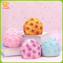 2109 new 3D flower ball chocolate mold candle handmade soap rose sunflower cherry