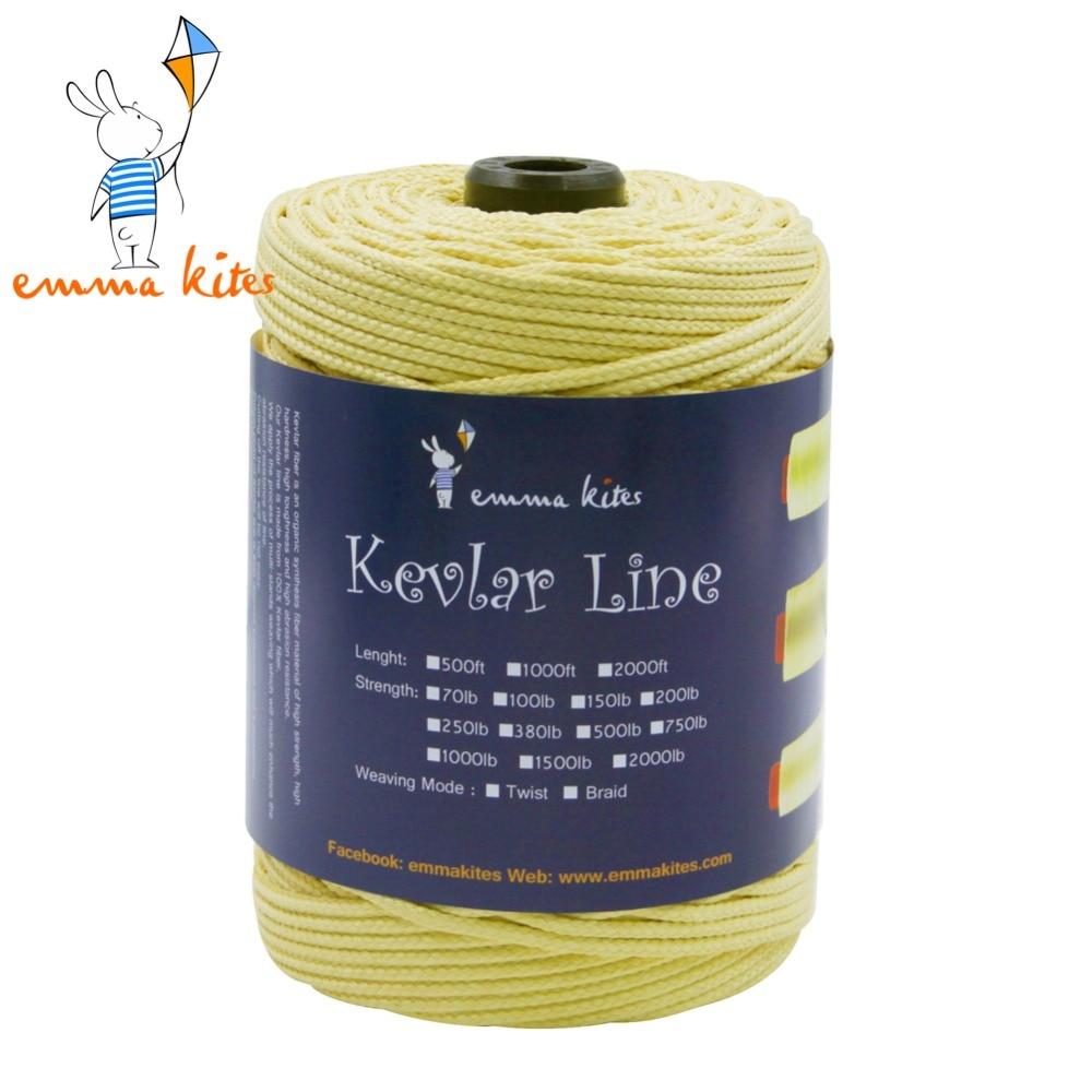 Emmakites 500ft 152m 2000lb braided kevlar line large for Kevlar fishing line