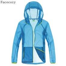 Facecozy Outdoor Men Summer Quick Dry Camping Jacket Solid T