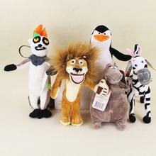 Madagascar 5 Classic Plush Dolls Penguin Skipper Lion Alex Zebra Marty King Julien Hippopotamus Gloria Kids