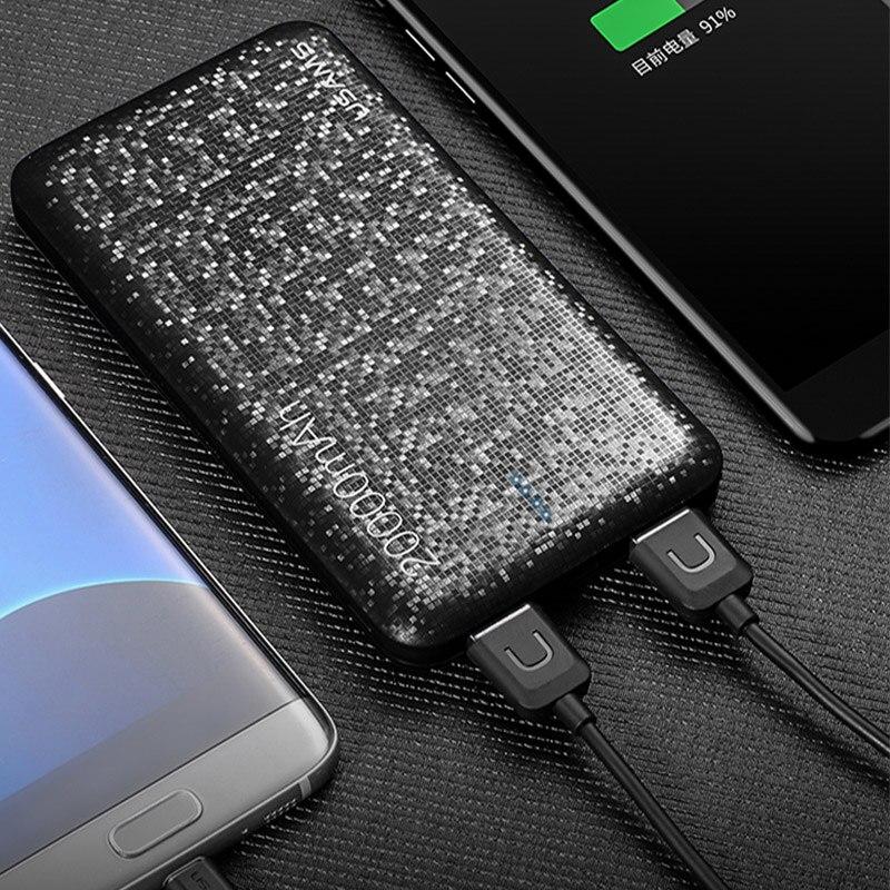 2018 Mosaïque Ultra Slim20000mAh Powerbank pour Téléphone Mobile Universel Portable bateria externe 20000 mah Puissance Banque