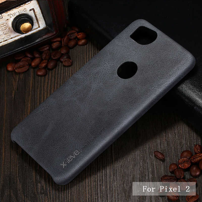 X-Level Brand New PU Leather Case For Google Pixel 2 Back Case Cover for Google Pixel 2 XL Vingate Leather Case Capa