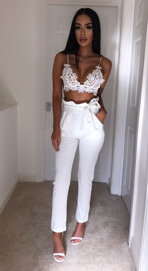 Hot Sale Fashion Women's Solid High Waist Slim Solid Bandage Stretchy Pants Office Lady Summer Casual Straight Thin Pants S-XL 4