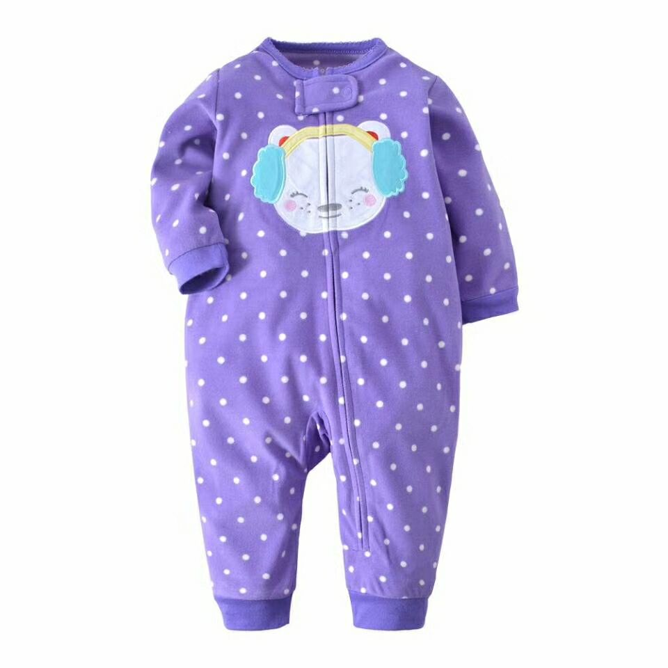 New 2018 Autumn Spring Baby Rompers Clothes Long Sleeves Newborn Boy Girls Polar Fleece Baby Jumpsuit Baby Clothing 9-24m 6 24m baby autumn