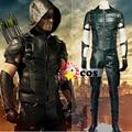 2016new Green Arrow season 4 Cosplay Costume Superhero Oliver Queen green arrow leather costume Halloween costumes for adult men
