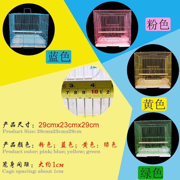 M & K accueil Aviculture outil fournitures pour animaux Cage à oiseaux oiseau maison perroquet Cage équipée bâton debout nourriture fenêtre poignées plateaux - 5