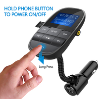 Auto Parts Car MP3 Players Bluetooth FM Modulator Support Flash Drive TF Card With Dual USB
