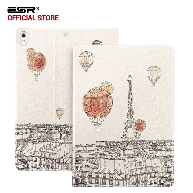 Case for iPad Pro 10.5, ESR PU Leather Folio Case Stand with Fashion Cute Cartoon Design and Smart case for iPad Pro 10.5 inches case for ipad pro 12 9 inch esr pu leather tri fold stand smart cover case with translucent back for ipad pro 12 9 2015 release