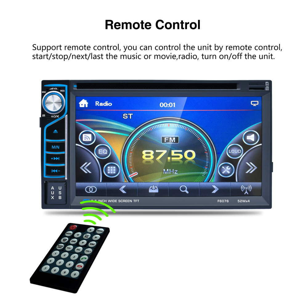 Bluetooth6.5 двойной 2 DIN Сенсорный экран в тире автомобиля стерео Радио MP3-плеер FM AUX вход моды 17Sept14