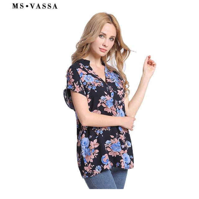 Chiffon Shirts casual Summer short sleeve  3