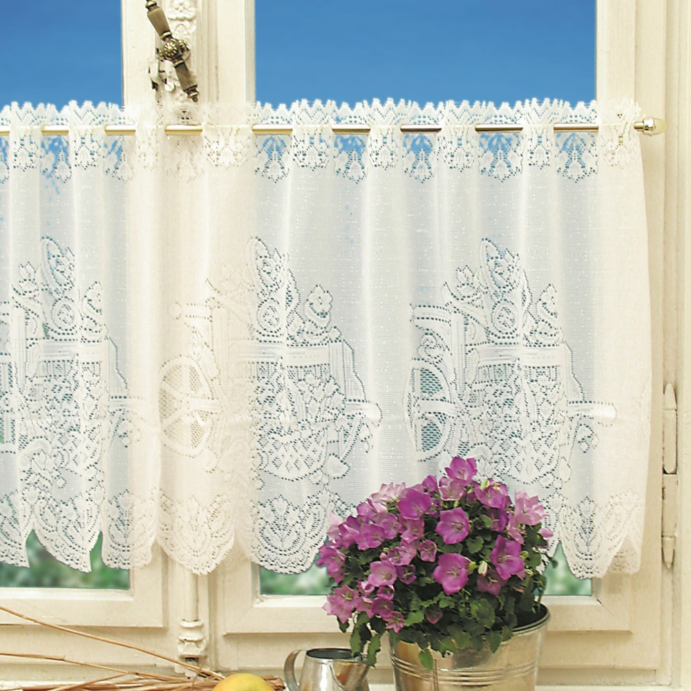 kitchen curtain sets white corner cabinet home decor lace store carriage polyester curtains 2pcs set and cafe net 160x50cm 160x30cm wedding drapes