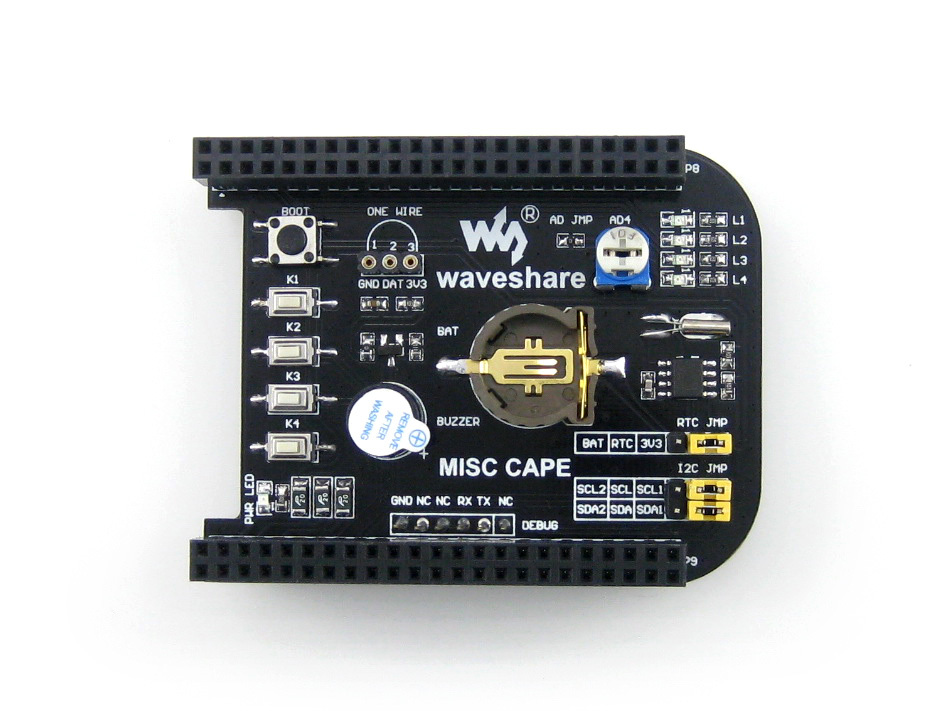 module Expansion Board MISC CAPE Miscellaneous Components Functions for BeagleBone Black 1GHz ARM Cortex-A8 512MB DDR3L 4GB eMMC expansion module elc md204l text panel