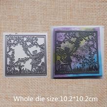 Fairy in the jungle Metal Cutting Dies decoration Scrapbooking Album Paper DIY Craft Embossing stencil 102*102 mm