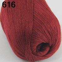 High Quality 100 Pure Cashmere Luxury Warm Soft Hand Knitting Yarn Wine 233 16