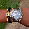 17-21cm 4mm Titanium Round Beads Macrame Braided Men Jewelry Bracelets For Men Braided Macrame Charm Bracelet &Transport beads