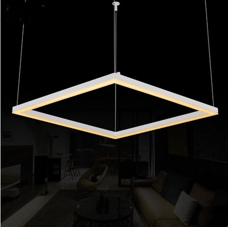 Creative Art Square Acrylic Droplight Modern LED Pendant Light Fixtures For Living Dining Room Hanging Lamp Indoor Lighting 40cm acrylic round hanging modern led pendant light lamp for dining living room lighting lustres de sala teto