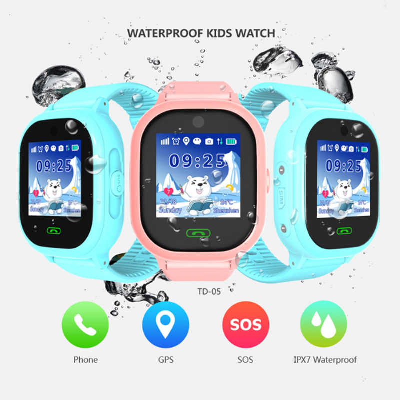 DS05 Smart watch kids with camera IP67 GPS Phone smart watch waterproof iOS Call Location Device Tracker Safe Monitor android