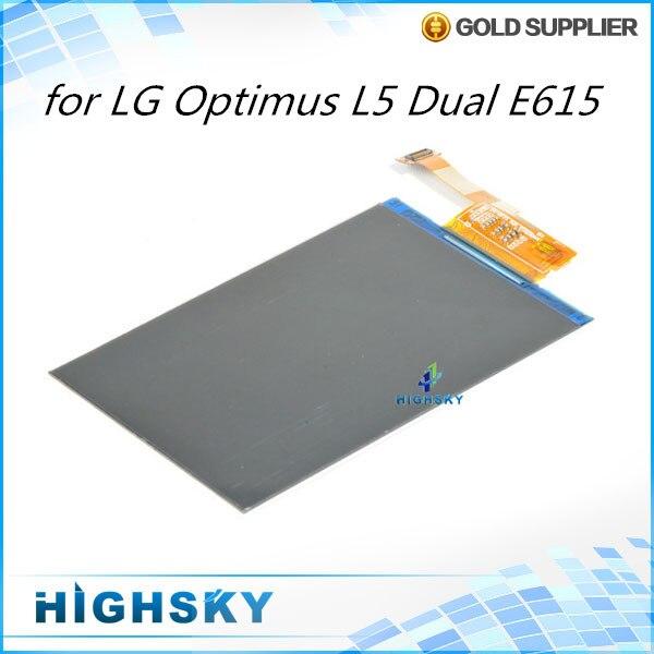 1 piece free shipping replacement part for LG optimus L5 Dual E615 E610 E612 E617 lcd screen display