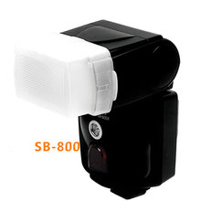 Foleto SB800 Flash Diffuser Softbox Bouncer Flash Diffuser đối với Nikon Sb 800 flash speedlite ánh sáng(China)