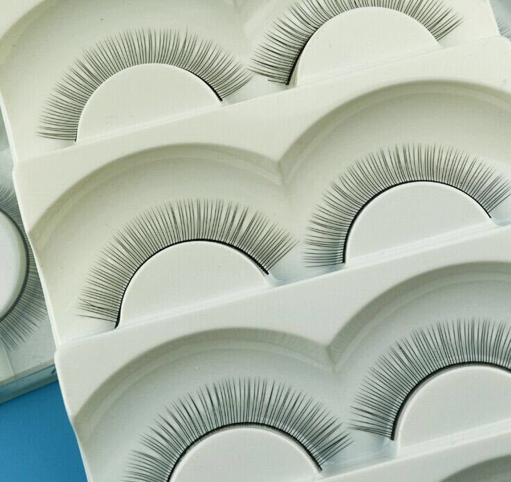 5 Pairs Individual False Eyelashes Natural Training Lashes For Eyelash Extension Practicing Teaching