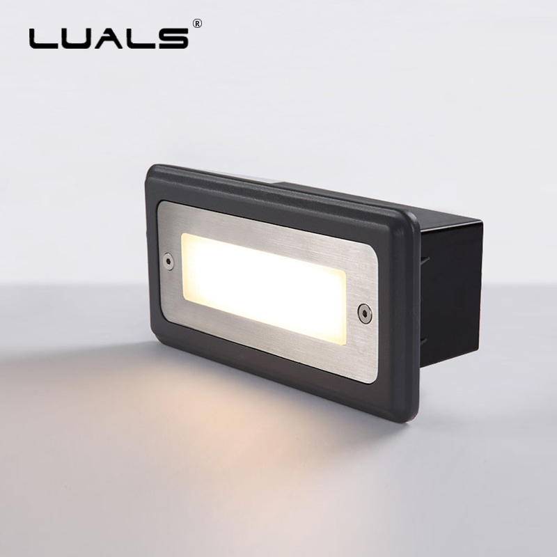 LED Aisle Foot Light Hotel Step lights Outdoor Lamps Waterproof Stair Light Fixture Garden Embedded Corner Lamp Square Lighting