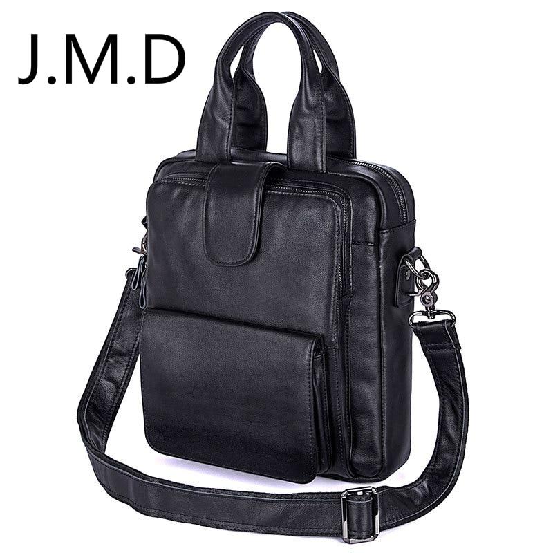 J.M.D 2018 New Arrival 100% Genuine Leather Messenger Bag Genuine Leather Men Double Handle Handbags Shoulder Bag 7266 bfdadi 2018 new arrival hat genuine