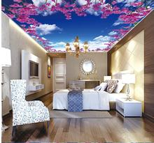 wallpaper 3d ceiling 3d wallpaper for room Flowers zenith ceiling frescoes 3d customized wallpaper 3d ceiling murals wallpaper