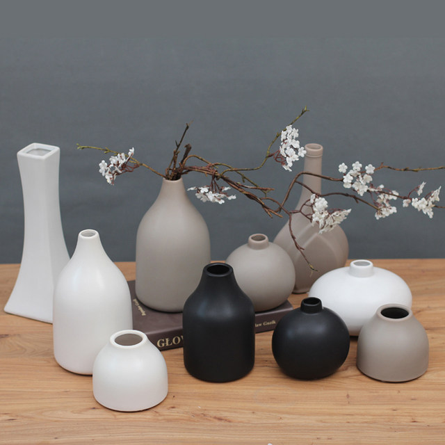 Online Shop Classic Black White Ceramic Vase Chinese Arts And